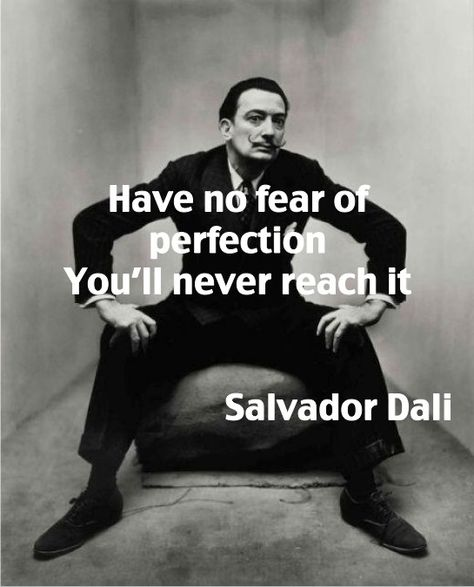 Salvador Dali on perfection