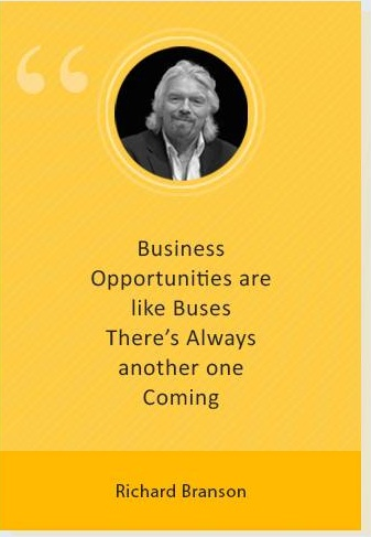 Richard Branson on business opportunities