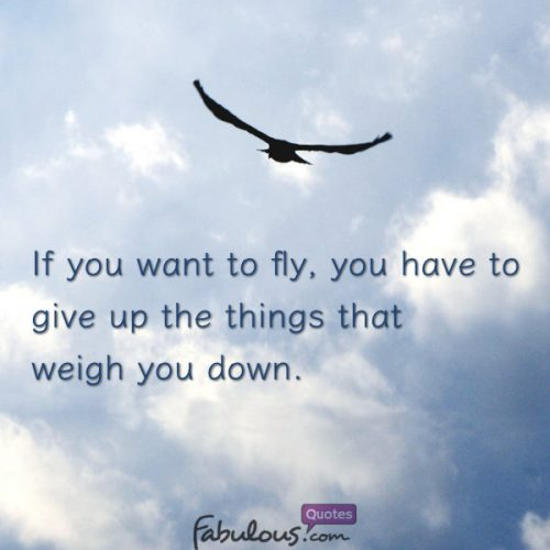If you want to fly quote