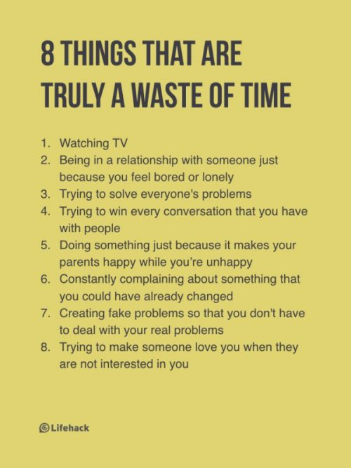 8 things that are a waste of time
