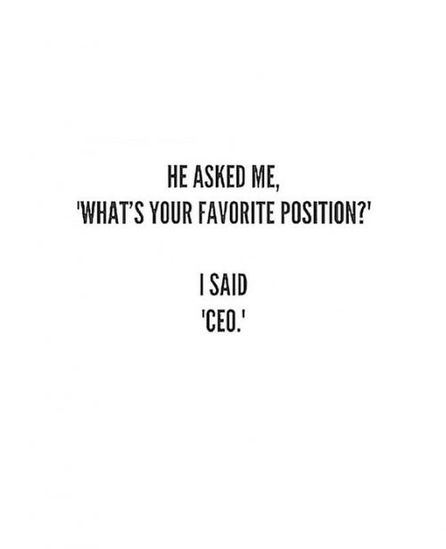 What is your favourite position