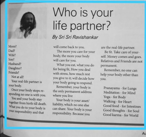 Who is your life partner