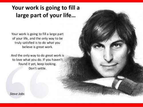 Steve Jobs quote about work