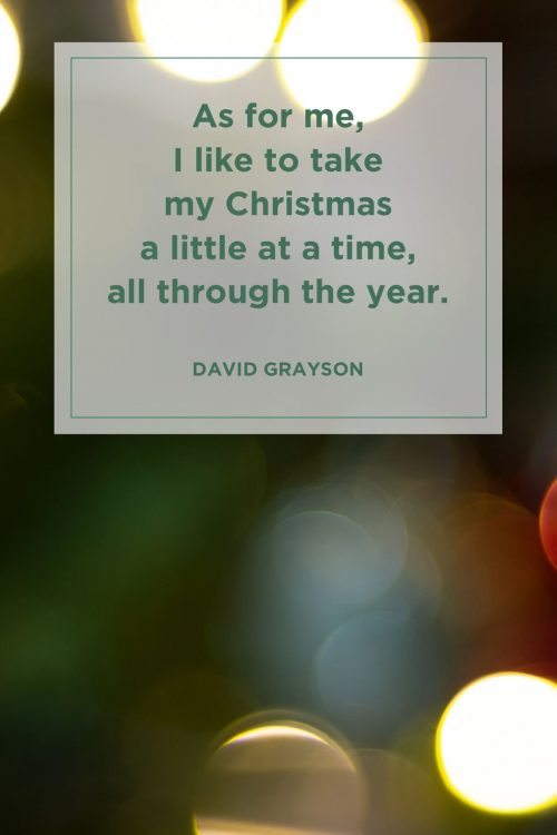Christmas little at a time quote