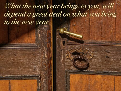 What the new year brings to you