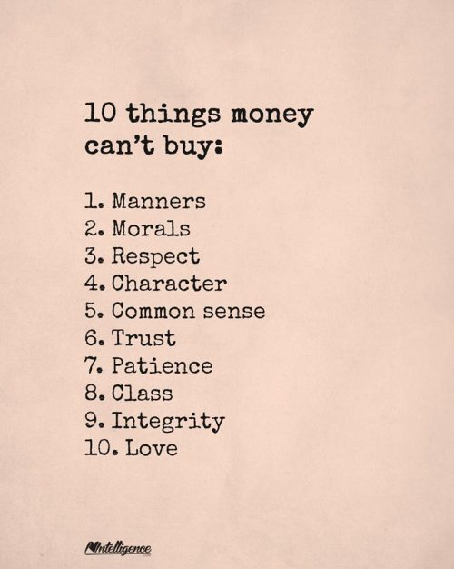 10 things money cant buy