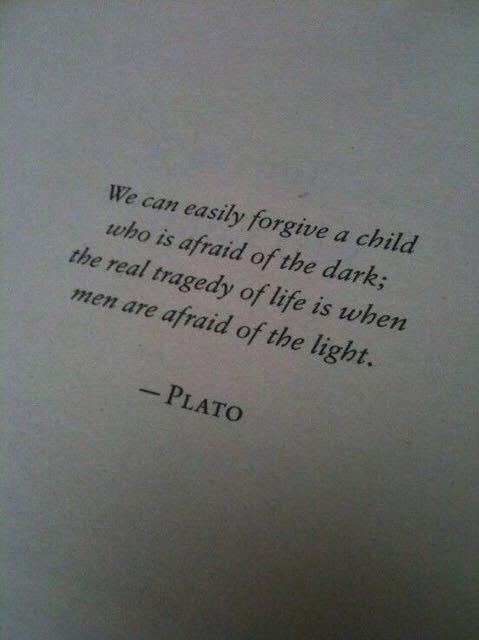 Plato on fear of light