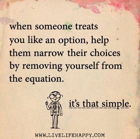 Remove yourself from the equation