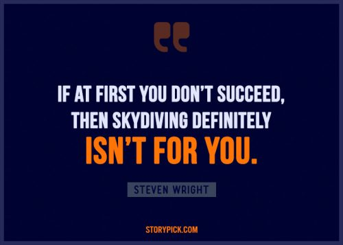 Skydiving funny quote