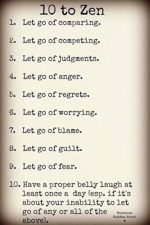 Ten steps to Zen