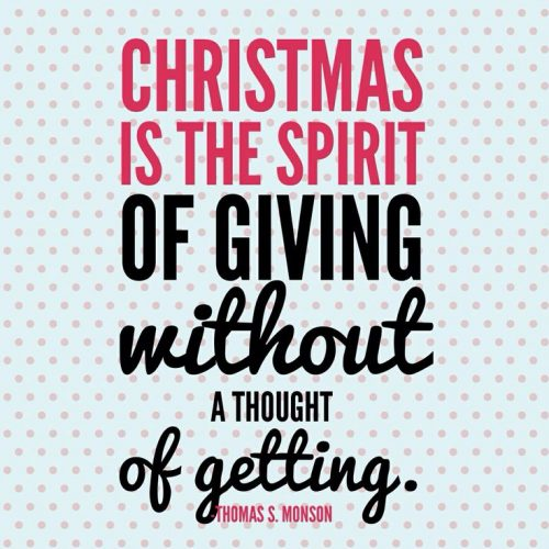 Christmas quote about giving