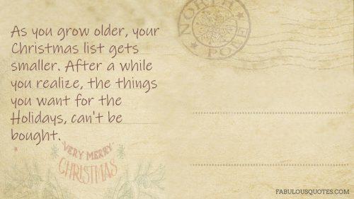 Christmas list wisdom